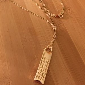 Marc By Marc Jacobs ID Tag Necklace